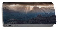 Portable Battery Charger featuring the photograph Grand Canyon Morning Light Show Pano by William Lee