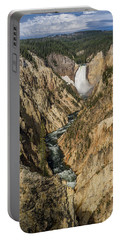Grand Canyon Of The Yellowstone And Yellowstone Falls Portable Battery Charger
