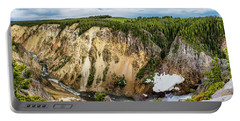 Grand Canyon Of Yellowstone Panorama Portable Battery Charger