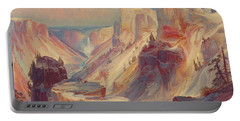 Grand Canyon Of Yellowstone, Yellowstone National Park 1876 Portable Battery Charger