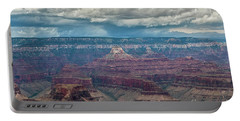 Grand Canyon Storms Portable Battery Charger by Kirt Tisdale