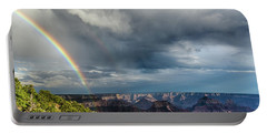 Grand Canyon Stormy Double Rainbow Portable Battery Charger