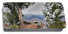 Grand Canyon Through The Trees Portable Battery Charger by Debby Pueschel