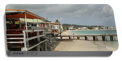 Grand Case Pier Portable Battery Charger by Margaret Brooks
