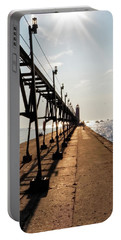 Portable Battery Charger featuring the photograph Grand Haven Pier by Lars Lentz