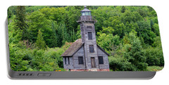 Grand Island East Channel Lighthouse #6549 Portable Battery Charger by Mark J Seefeldt