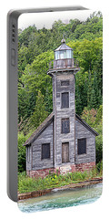 Grand Island East Channel Lighthouse #6554 Portable Battery Charger by Mark J Seefeldt