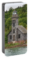 Grand Island East Channel Lighthouse #6664 Portable Battery Charger by Mark J Seefeldt