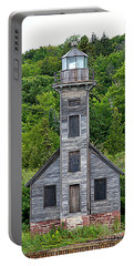 Grand Island East Channel Lighthouse #6672 Portable Battery Charger by Mark J Seefeldt