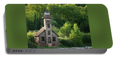Grand Island Light House In Spring Portable Battery Charger