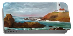 Grand Lighthouse Portable Battery Charger by Larry Hamilton
