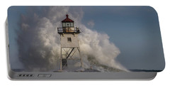 Portable Battery Charger featuring the photograph Grand Marais Light House by Paul Freidlund