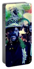 Grand Marshall Of The Zulu Parade Mardi Gras 2016 In New Orleans Portable Battery Charger by Michael Hoard