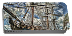 Portable Battery Charger featuring the photograph Grand Old Sailing Ship by Roberta Byram