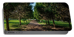 Portable Battery Charger featuring the photograph Grand Pathway - The Hermitage by James L Bartlett
