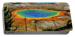 Grand Prismatic Spring Portable Battery Charger by Greg Norrell