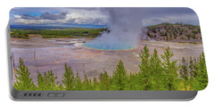 Grand Prismatic Spring Overlook Yellowstone Portable Battery Charger