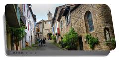 Grand Rue De L'horlogue In Cordes Sur Ciel Portable Battery Charger by RicardMN Photography