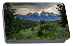 Portable Battery Charger featuring the photograph Grand Stormy Sunset by David Chandler