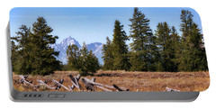 Grand Teton And Fence Portable Battery Charger