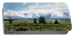 Grand Teton Countryside Portable Battery Charger by Serge Skiba