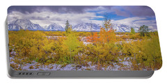 Grand Teton Fall Snowfall Portable Battery Charger