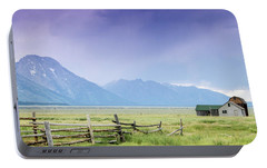 Portable Battery Charger featuring the photograph Grand Teton Homestead by Dawn Romine