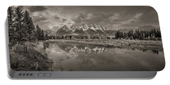 Grand Teton Monochromatic Panoramic Portable Battery Charger