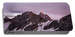 Grand Teton National Park Sunset Portable Battery Charger by Serge Skiba
