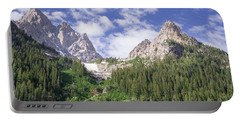 Grand Teton Peaks Portable Battery Charger by Serge Skiba