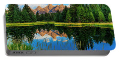 Grand Teton Reflections In Snake River Portable Battery Charger