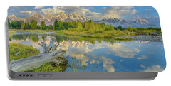 Grand Teton Riverside Morning Reflection Portable Battery Charger