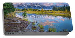 Grand Teton Sunrise Reflection Portable Battery Charger