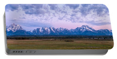 Grand Tetons Before Sunrise Panorama - Grand Teton National Park Wyoming Portable Battery Charger