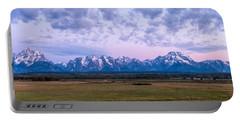 Grand Tetons Before Sunrise Panorama - Grand Teton National Park Wyoming Portable Battery Charger