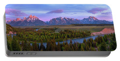 Grand Tetons Portable Battery Charger by Chad Dutson