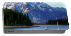 Grand Tetons Portable Battery Charger by Charlotte Schafer