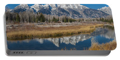 Portable Battery Charger featuring the photograph Grand Tetons by Gary Lengyel