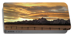 Grand Tetons In January Glory Portable Battery Charger