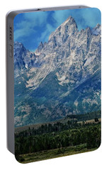 Portable Battery Charger featuring the photograph Grand Tetons by Katie Wing Vigil