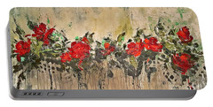 Portable Battery Charger featuring the painting Grandma Roses by AmaS Art