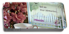 Portable Battery Charger featuring the photograph Grandma Tell Me Your Memories... by Sherry Hallemeier