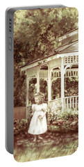 Grandmas' Garden Portable Battery Charger by Bonnie Willis