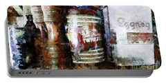 Portable Battery Charger featuring the photograph Grandma's Kitchen Tins by Claire Bull