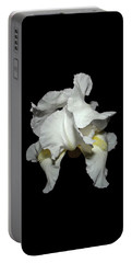 Grandma's White Iris Portable Battery Charger