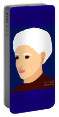 Portable Battery Charger featuring the painting Grandmother by Marian Cates