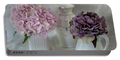 Portable Battery Charger featuring the photograph Grandmother's Vanity Top by Sherry Hallemeier
