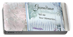 Grandmother...tell Me Your Memories Portable Battery Charger by Sherry Hallemeier