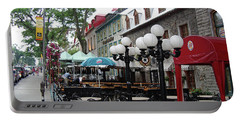 Portable Battery Charger featuring the photograph Grande Allee Est by John Schneider