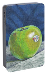 Portable Battery Charger featuring the painting Granny Smith by Robert Decker